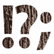 Question mark made from oak bark — 图库矢量图片 #54329721
