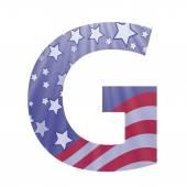 American flag letter G — Stock Vector