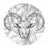 Head of ram — Stock Vector