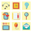 Set of flat icons for web appplication — Stock Photo #56703665
