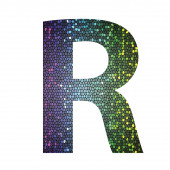 Letter R of different colors — Stock Photo