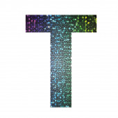 Letter T of different colors — Stock Photo