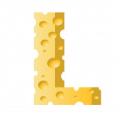 Cheese letter L — Stock Photo