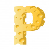 Cheese letter P — Stock Photo