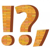 Brick question mark — Stock Photo