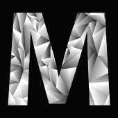 Crystal letter  M — Stock Photo