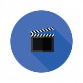 Clipper board flat icon — Stock Photo