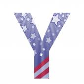 American flag letter Y — Stock Photo