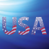 USA capital letters with flag pattern — Stock Photo