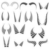 Silhouettes horns — Vector de stock