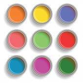 Paint can color palette — Vector de stock