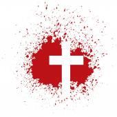 Bloody cross — Stock Vector