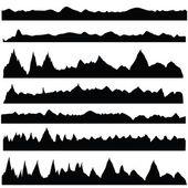 Mountain silhouettes — Stock Vector
