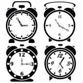 Alarm clock icons — Stock Vector