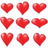 Corações vermelhos — Vetor de Stock