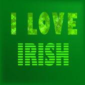 Amo irlandese — Vettoriale Stock
