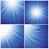 Blue rays background — Stock Photo