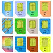 SIM Card — Stock Vector