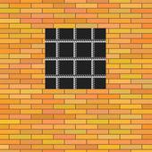 Prison Window. — Stock Vector
