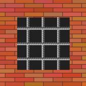 Prison Wall — Stock Vector