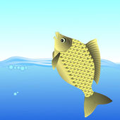 Freshwater Fish — Stock Vector