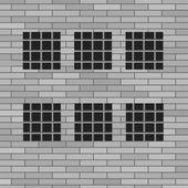 Prison Grey Brick Wall — Stock Vector