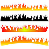 Silhouettes of Fire — Stock Vector