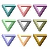 Triangles — Vector de stock