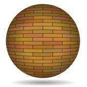 Brick Circle — Stock Vector