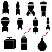 Bomb Icons — Stock Photo