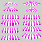 Pink White Tents — Stock Vector