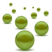 Green Pearls — Vetor de Stock