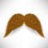 Brown Mustache — Stock Vector