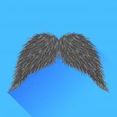 Grey Mustache — Stock Vector