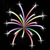 Colorful Light Firework — Stock Vector