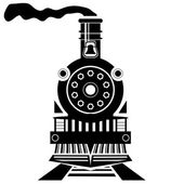 Old Train — Stock Vector