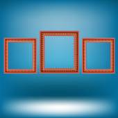 Set of Red Frames — Stock Vector