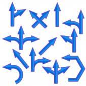 Blue Arrows — Stock Vector