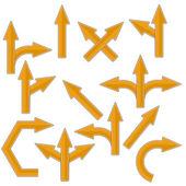 Orange Arrows — Stock Vector