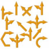 Orange Arrows — 图库矢量图片