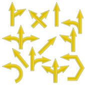 желтые стрелки — Стоковое фото