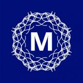 Monogramm m — Stockvektor
