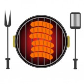Grill Icon Isolated on White Background — Stock Photo