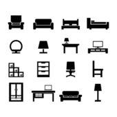 Icona di mobili — Vettoriale Stock