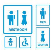 Restroom sign — Stock Vector