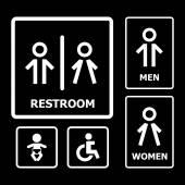 Restroom sign — Stockvektor