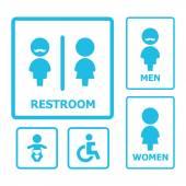 Toilet teken — Stockvector