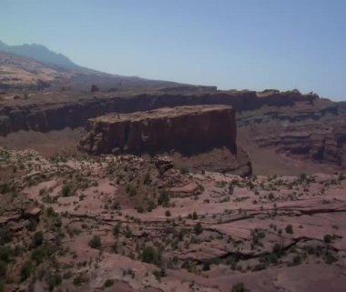 Red rock desert — Stock Video