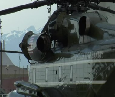 Presidential Marine helicopter — Stock Video