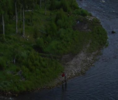 Two fly fisherman — Stock Video